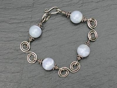 Blue Lace Agate Swirl Bracelet