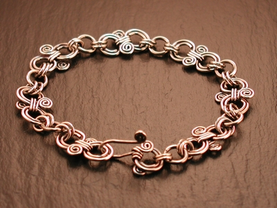 Double Swirl Sterling Bracelet