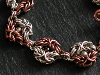 Sterling and Copper Romanov Bracelet