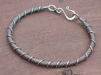 Twisted Coil Sterling Bracelet