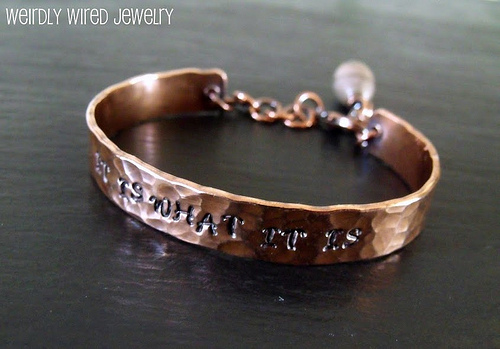 Copper Cuff-IT IS WHAT IT IS