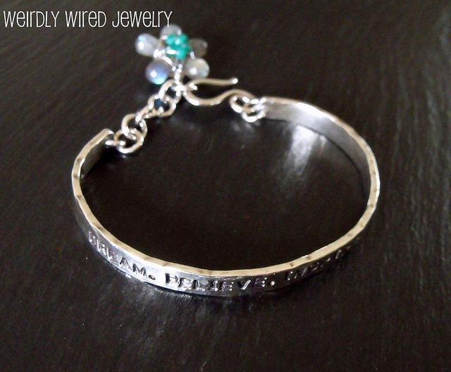 Stamped Cuff Bracelet-Alison