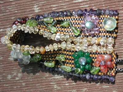 Gemstone Flowers Peyote Bracelet