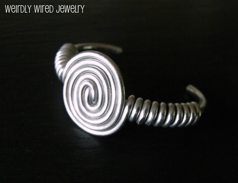 Aluminum Spiral Bangle