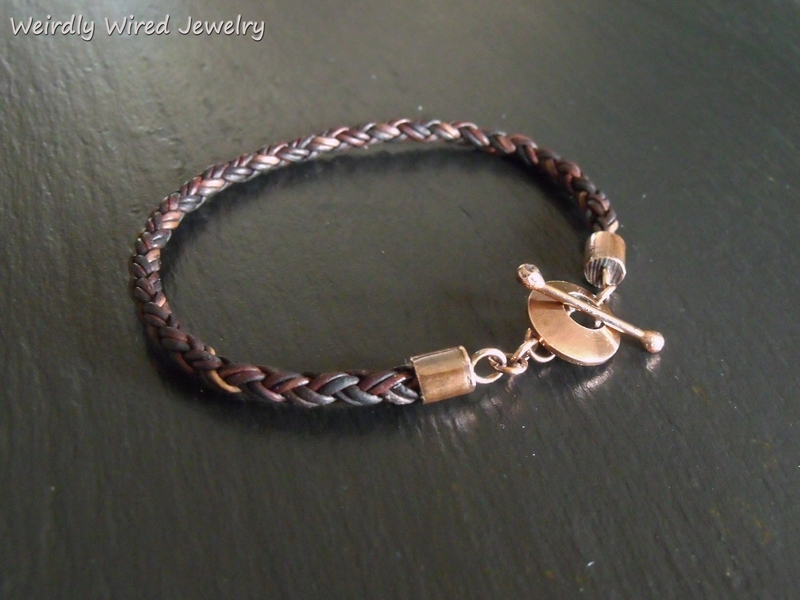 Braided Multistrand Leather Bracelet
