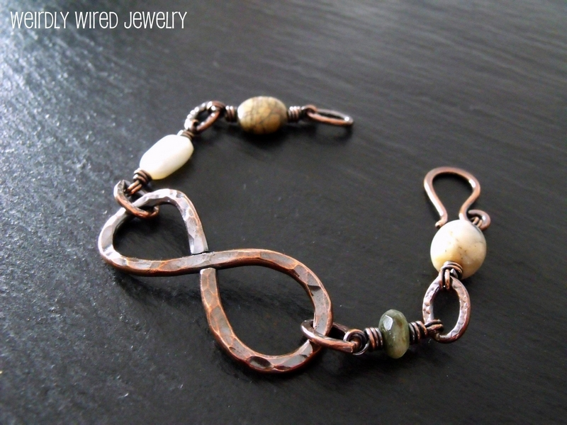 Copper Infinity Mixed Stones Bracelet