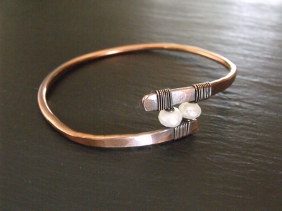 Copper and Pearl Bangle