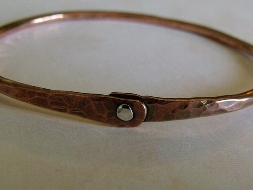 Riveted Copper Bangle