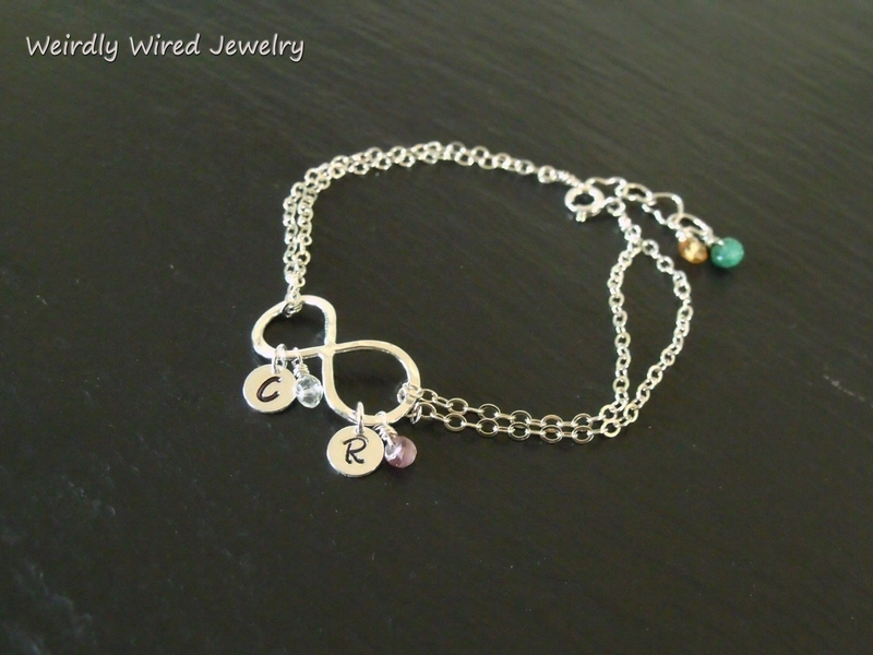 Infinity Bracelet with Birthstones-BP