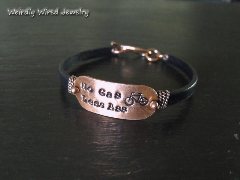 No Gas Less Ass Bike bracelet