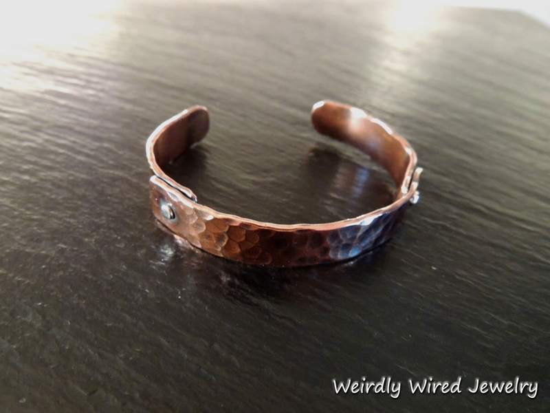 Wide Riveted Copper Cuff
