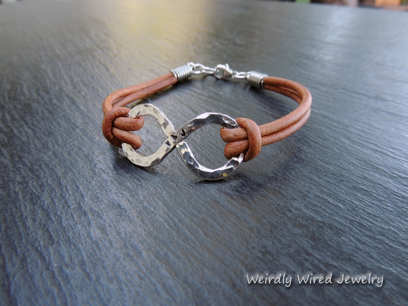 Mens Stamped Infinity Bracelet-BP