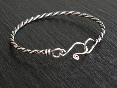 Sterling and Twisted Copper Bangle