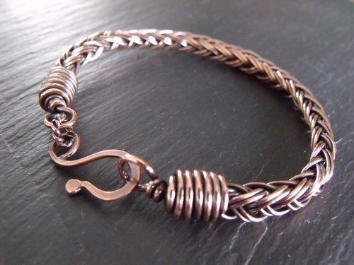 Vertabraid Copper Bangle