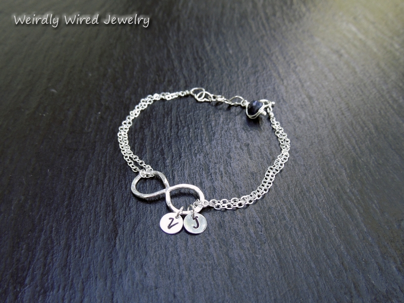 Womens Infinity Bracelet with Sapphire-BP