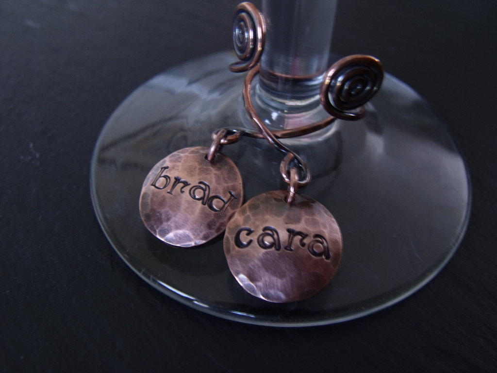 Fiona Font Copper Drink Markers