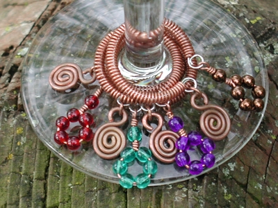 Copper Coil Drink Markers