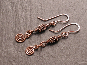 Copper Twist Earrings