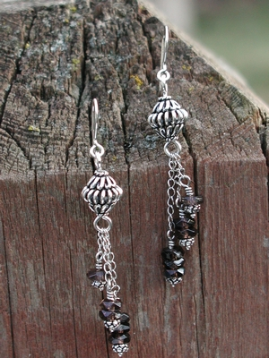 Swinging Smoky Quartz Earrings