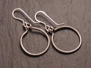 Coiled Sterling Hoop Earrings