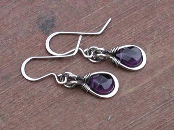Amethyst Frame Brio Earrings