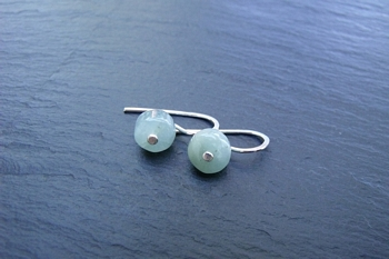 Aquamarineand Sterling Earrings