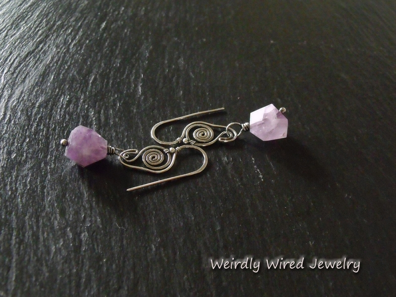 Chunky Amethyst Sterling Earrings