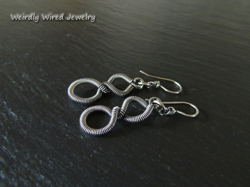 Coiled Silver Twist Earrings