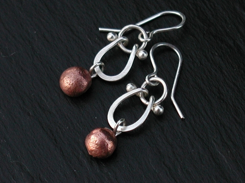 Copper Blob Earrings