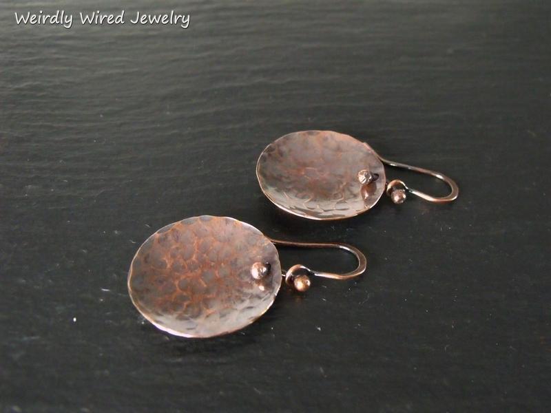 Copper Bowl Earrings