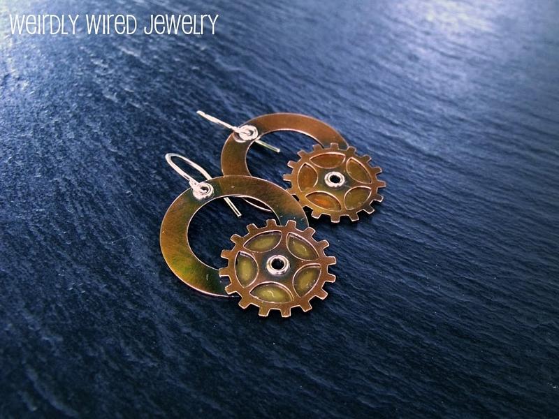 Copper Brass Steampunk Earrings
