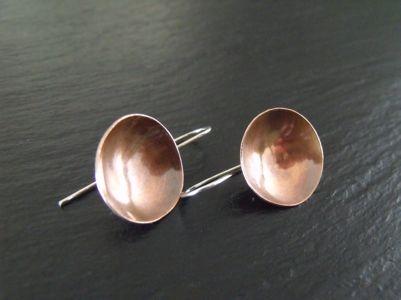 Copper Cup Earrings