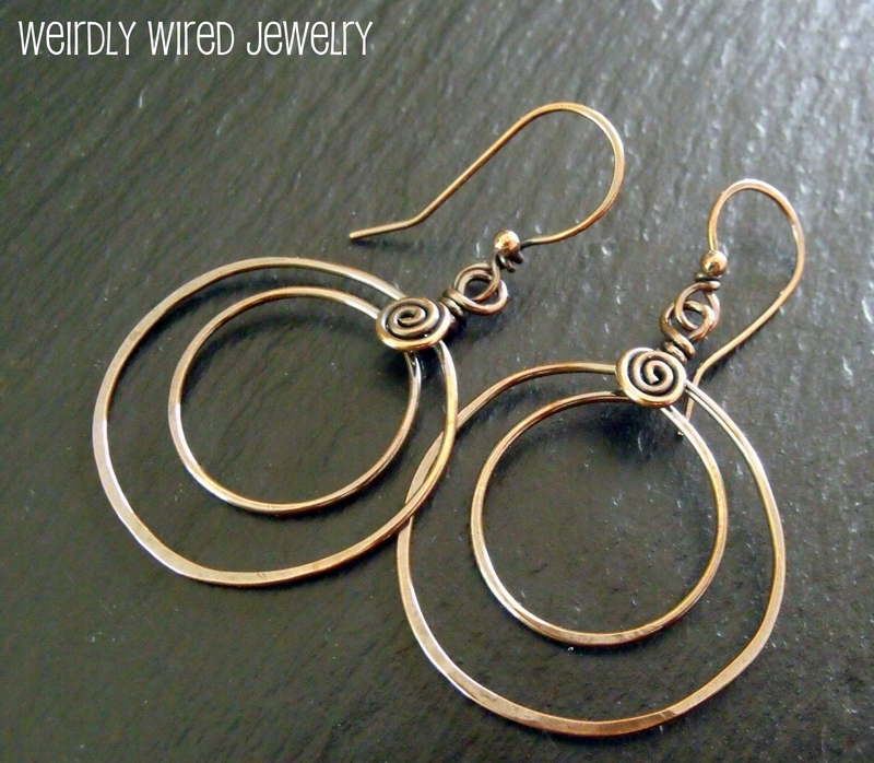 Double Copper Hoops