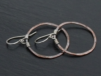 Copper Hoop Sterling Wrap