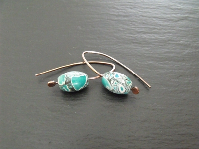 Copper and Magnesite Earrings