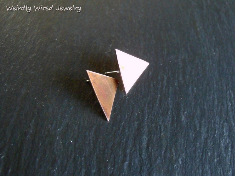 Copper Triangle Post Earrings