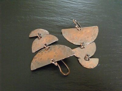 Half Moon Copper Earrings