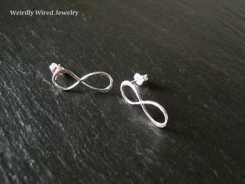 SS Infinity Post Earrings