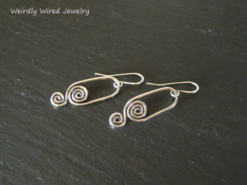 Inside Out Small Spiral Earrings