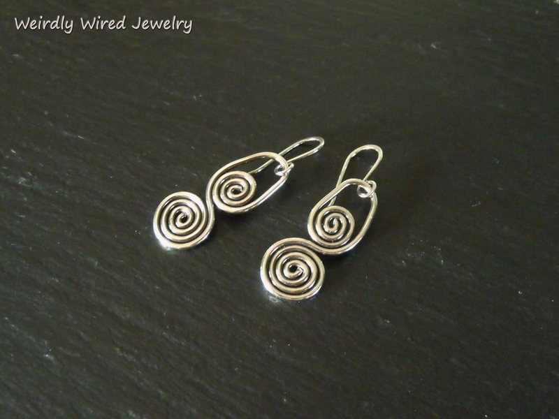 Inside Out Spiral Earrings