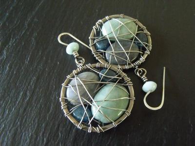 Labradorite, Amazonite and Apatite Earrings