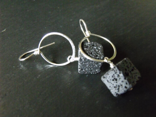 Lovely Lava Earrings