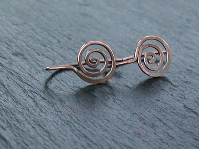 Loose Spiral Copper Earrings