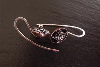 Mixed Metal Cup Earrings