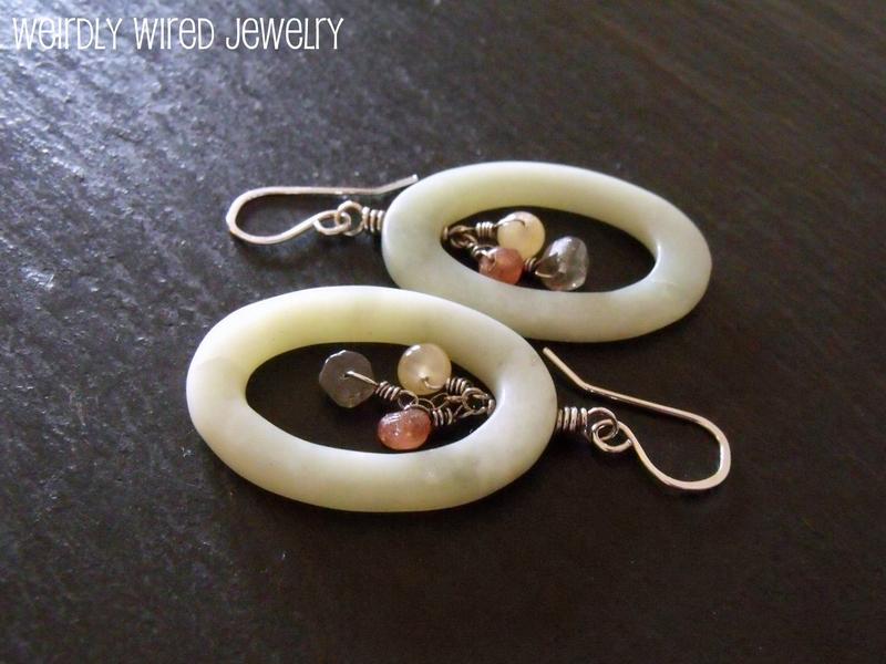 Agate Oval Earrings