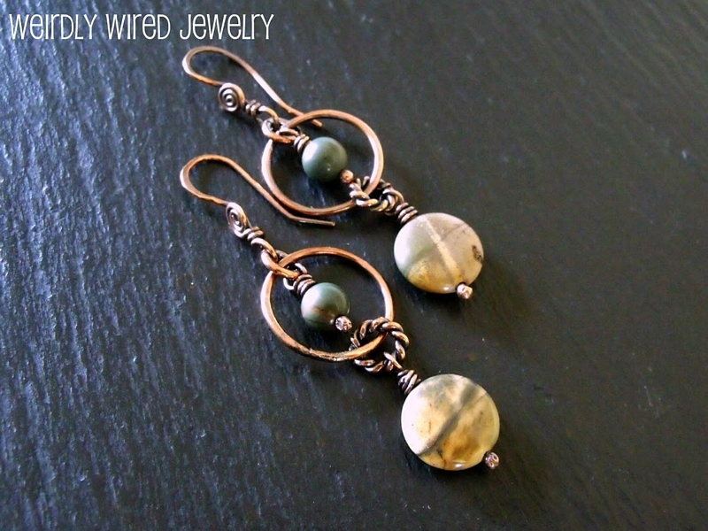 Picasso Jasper Circle Earrings