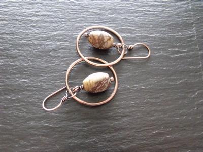 Picasso Jasper Hoop Earrings