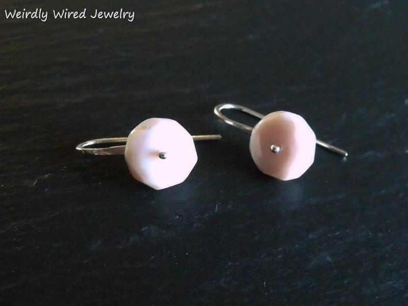 Pink African Opal SS Earriings