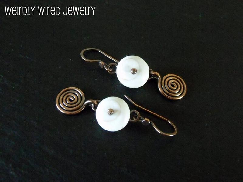 Rivited Shiva Shell Earrings