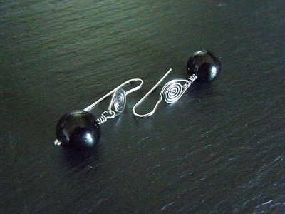 Sardonyx Spiral Earrings